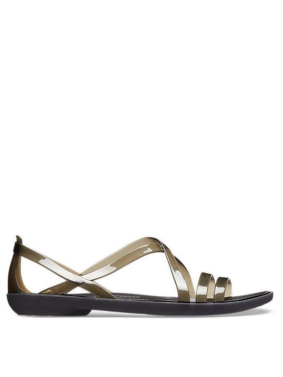 17509668b Crocs Isabella Strappy Flat Sandal | very.co.uk