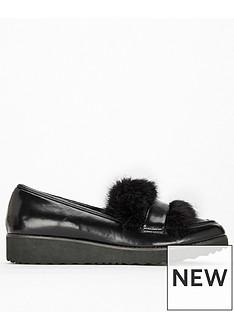 evans-evans-extra-wide-fit-faux-fur-trim-loafer