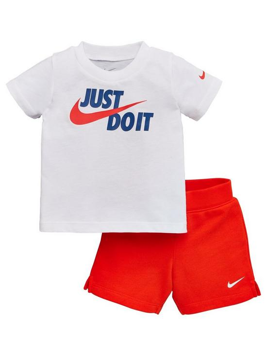 f91f4f369673 Nike Baby Boys T-Shirt and Shorts 2 Piece Set - Red   very.co.uk