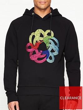 just-cavalli-snake-print-overhead-hoodie-black