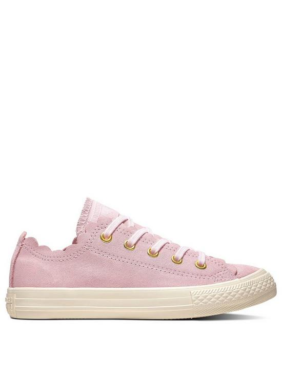 c92a6a27a88c Converse Chuck Taylor All Star Junior Ox Trainers - Pink White ...