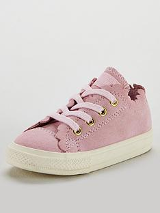 Converse Chuck Taylor All Star Infant Ox Trainers - Pink White 02ca8aee0