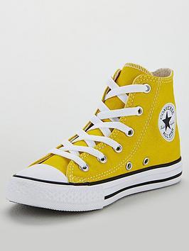converse-chuck-taylor-all-star-junior-hi-top-trainers-yellowwhite