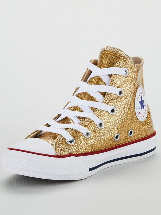 Converse Chuck Taylor All Star Glitter Junior Hi Top