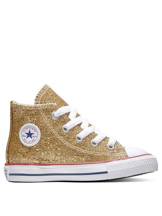 e2ccb3ca5b62 Converse Converse Chuck Taylor All Star Glitter Infant Hi-Top