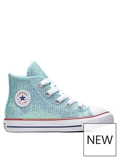 a513a416361f Converse Converse Chuck Taylor All Star Glitter Infant Hi-Top