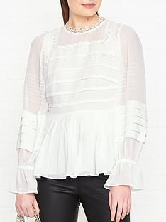 ted-baker-roobeenbsppeplumnbspmixed-lace-top-white