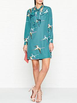 ted-baker-joelaanbspwonderland-flight-shift-dress-teal