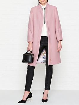 ted-baker-bllairnbspsculpted-sleeve-wool-coat-pink