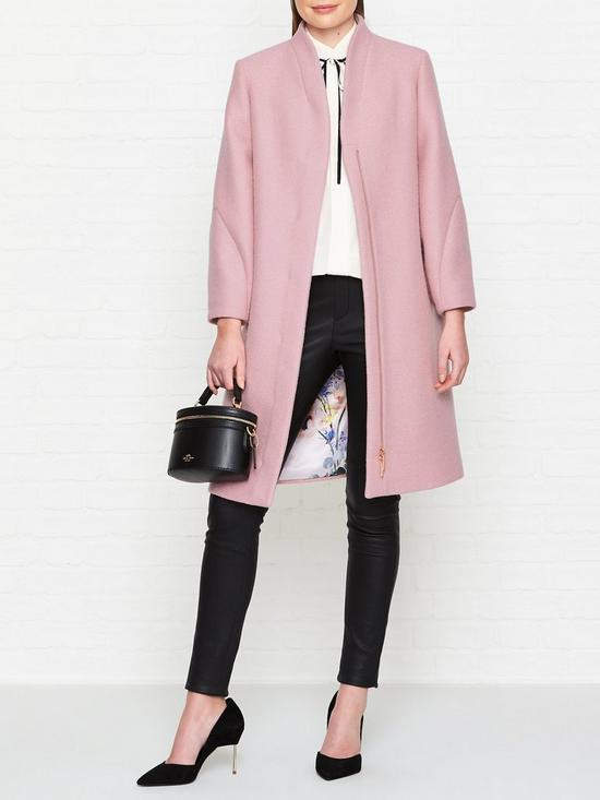 5224cc1c829cb Ted Baker Bllair Sculpted Sleeve Wool Coat - Pink