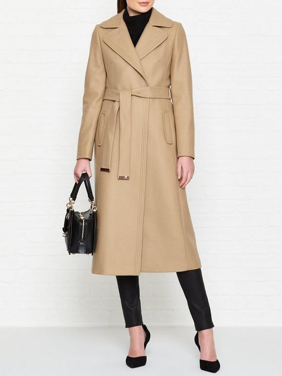 e9a98c097bb25 Ted Baker Gabella Wide Collar Long Wool Coat - Camel