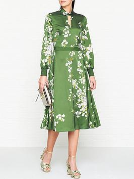 ted-baker-jhenni-graceful-print-midi-dress-green