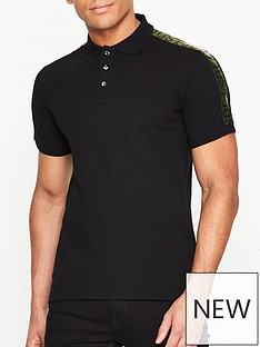 just-cavalli-logo-print-tape-short-sleeve-polo-shirtnbsp--black