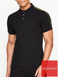 just-cavalli-logo-print-tape-short-sleeve-polo-shirtnbsp--black