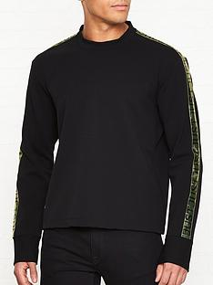 just-cavalli-logo-print-tape-sweatshirtnbsp--black