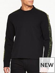just-cavalli-logo-print-tape-sweatshirtnbsp--black