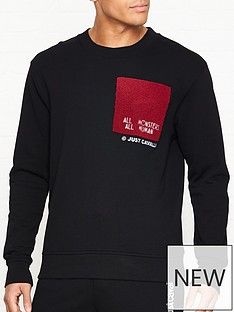 just-cavalli-all-monsters-allnbsphumans-logo-sweatshirt-black
