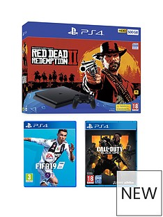 playstation-4-red-dead-redemption-2-500gb-console-bundle-with-call-of-duty-black-ops-4nbspfifa-19-and-optional-extras