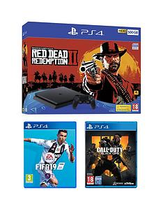 playstation-4-red-dead-redemption-2-500gb-ps4-bundle-with-call-of-duty-black-ops-4-fifa-19-and-365-day-psn-subscription-card