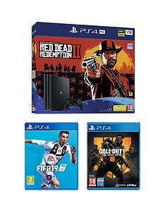 playstation-4-pro-red-dead-redemption-2-ps4-pro-bundle-with-call-of-duty-black-ops-4-fifa-19-and-optional-extras