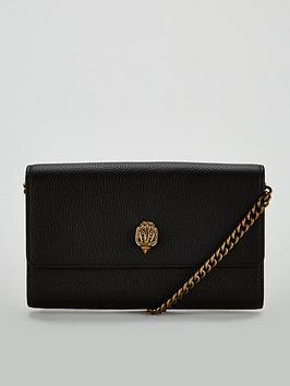 kurt-geiger-london-kensingtonnbspchain-wallet-bag-black