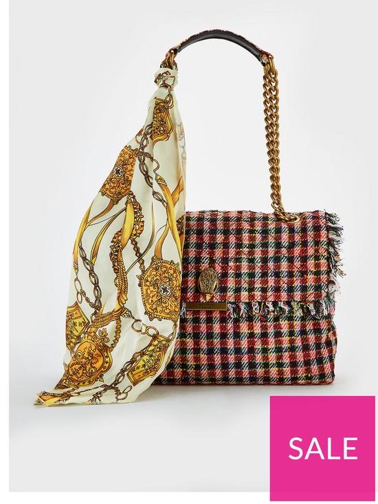 a30c298ce82 KURT GEIGER LONDON Fabric Lg Kensington Shoulder Bag - Red | very.co.uk