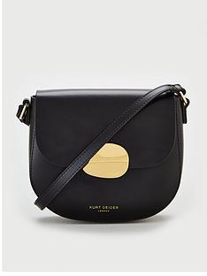 kurt-geiger-london-buckle-shoulder-saddle-bag-black