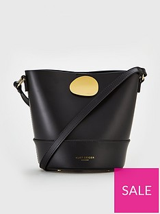 f08edab697d KURT GEIGER LONDON Kurt Geiger London Petal Black Bucket Bag