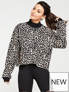 michelle-keegan-high-neck-leopard-sweat-print