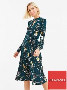 0d408fce09e6 Oasis Winter Jasmine Tie Side Choker Midi Dress - Green