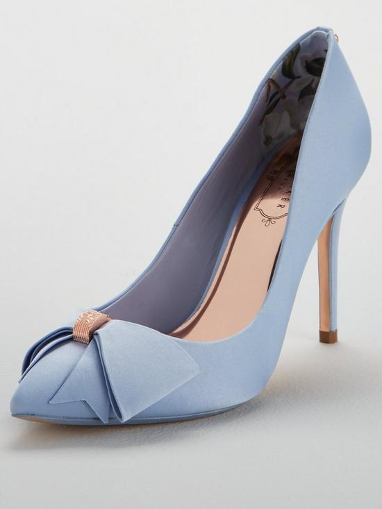 c66bb0e1b0e5 Ted Baker Skalet 2 Bow Heeled Shoe - Blue