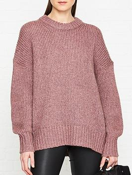 allsaints-gemini-jumper-pink