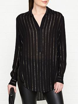 allsaints-keri-striped-shirt-black
