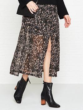 allsaints-drea-leopard-skirt-grey