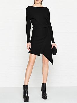 allsaints-suke-asymmetric-knitted-dress-black