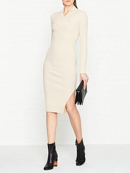 allsaints-vries-ribbed-dressnbsp--white