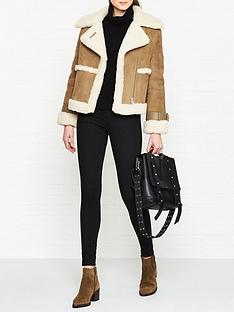 allsaints-farley-shearling-jacket-tan