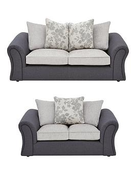 Viva Fabric Compact 3 Seater + 2 Seater Scatter Back Sofa Set (Buy And Save!)