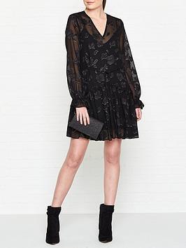 allsaints-alia-floral-print-dress-black
