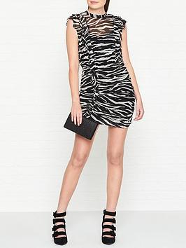 allsaints-hali-tiger-dress-black