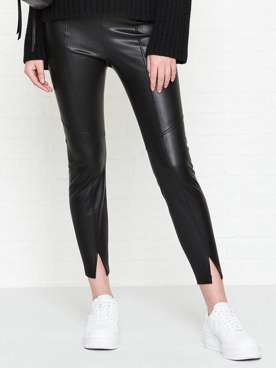 877a8249c6f43 AllSaints Lark Faux Leather Leggings - Black | very.co.uk