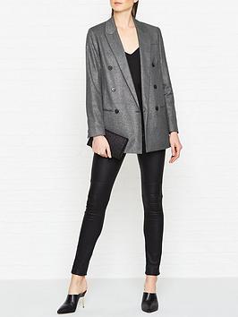 allsaints-isla-shimmer-check-blazer-grey