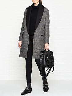 allsaints-paige-check-coat-blackchalkbrown