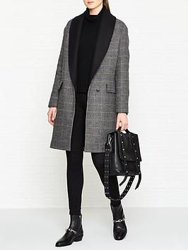allsaints-paige-check-coat-blackchalkbrown