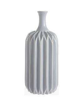 grey-faceted-vase
