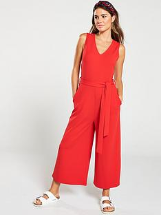 b38727a0c5 V by Very Sleeveless Culotte Jumpsuit