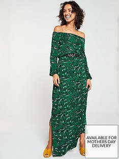 7761be7713 V by Very Off The Shoulder Jersey Maxi Dress
