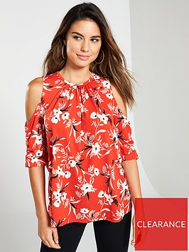 v-by-very-cold-shoulder-ruched-sleeve-top