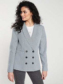 v-by-very-checkered-double-button-jacket-ndash-mono