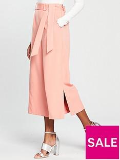 warehouse-tie-side-split-culottes-peachynbsp